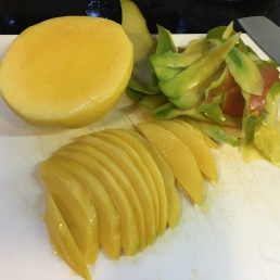 Mango avocado and smoked chicken salad the gordon ramsay recipe cut the chicken breasts into thin slices as well add into the bowl with the rest of the ingredients pour in dressing give it a good toss ccuart Gallery